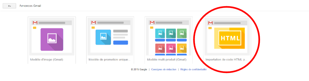 template gmail ads
